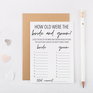 How Old Were the Bride and Groom Cards