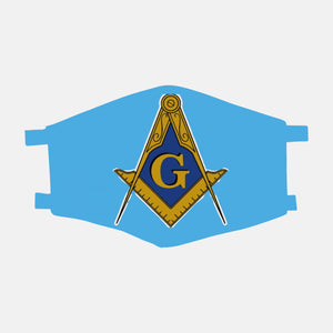 Masonic Light Blue Face Mask