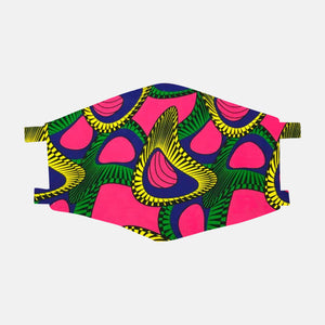 Pink Ankara Face Mask