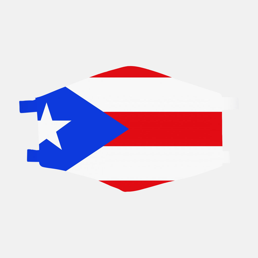 Puerto Rican Flag Face Mask