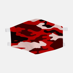 Red Camouflage Face Mask