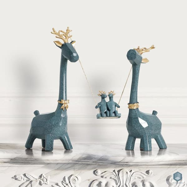 Family Deer Figurine - Figurine Luxury Home Decor