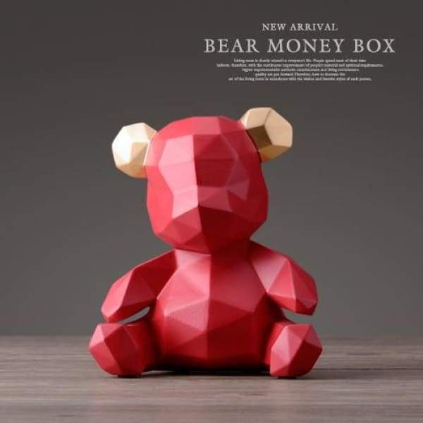 Teddy Bear funder - Coin Bank Luxury Home Decor