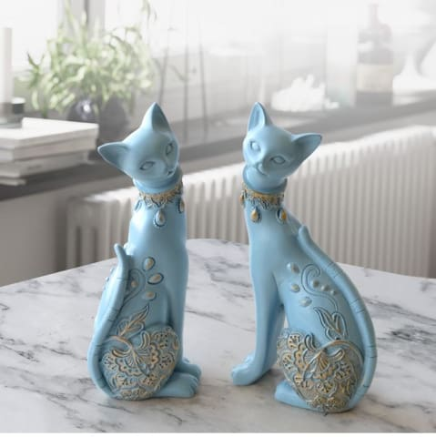 Cat Couple Figurine figurine-cat-decorative-resin-statue-for-home-decorations-european-creative-wedding-gift-animal-figurine-home-decor-sculpture
