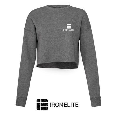 IE Symbol | Female Cropped Sweater | Grey/White Print