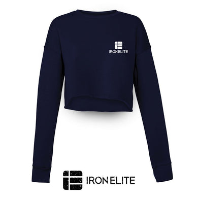 IE Symbol | Female Cropped Sweater | Navy/White Print