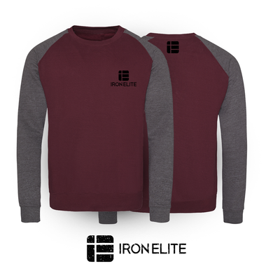 IE Symbol | Unisex Sweater | Charcoal/Maroon