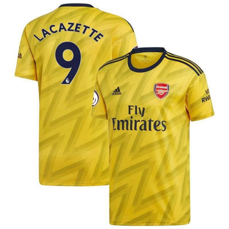Arsenal Adidas Away 2019/20 Custom Player Jersey - Yellow - plkits.com