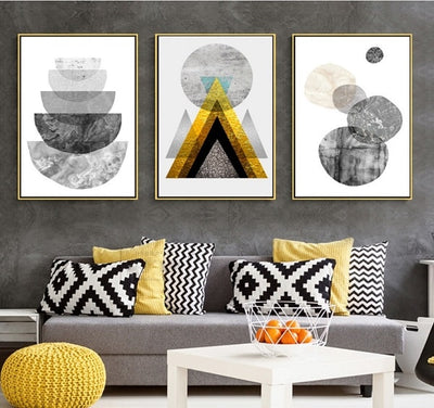 Nordic Modern Geometric Wall Art Canvas Picture