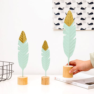 Modern Feather Wooden Decoration - Minimalist Nordic