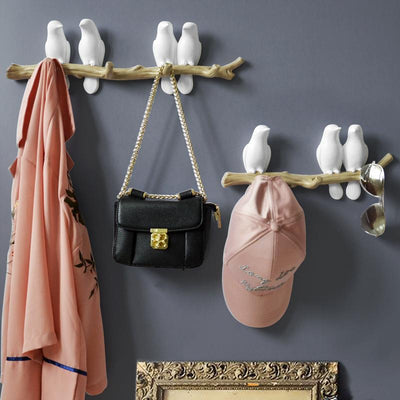 Bird Key and Bag Holder For Wall Decorations - Minimalist Nordic