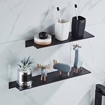 Aluminium Wall Mounted Bathroom Storage Organizer - Minimalist Nordic