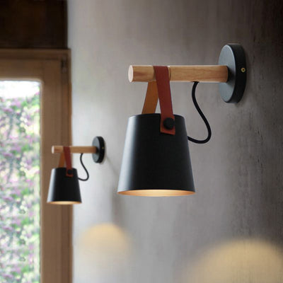 Nordic LED Wooden Wall Lamp - Minimalist Nordic
