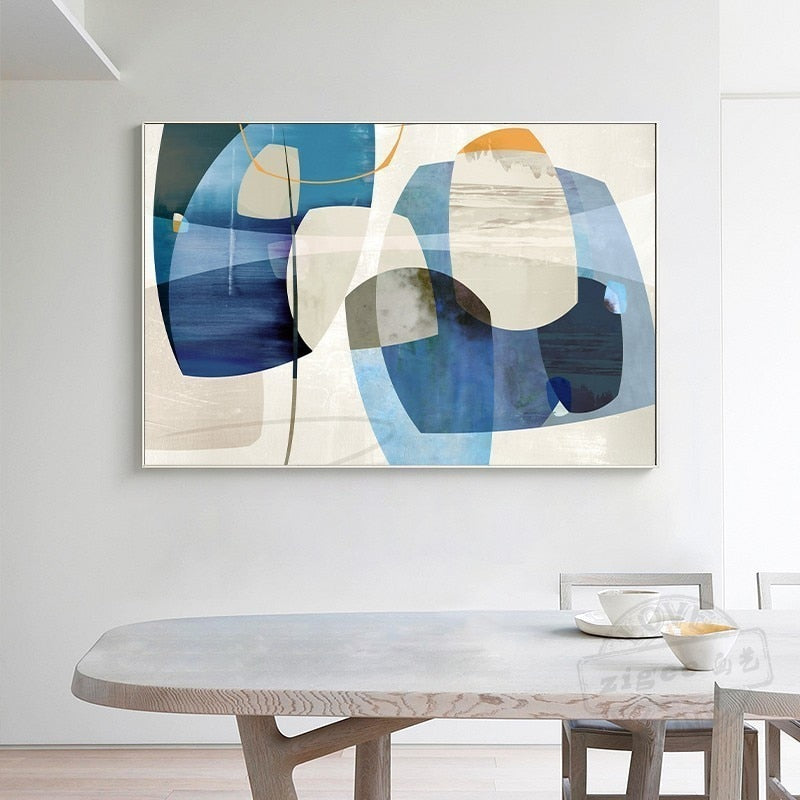 SURE LIFE Minimalist Nordic Abstract Colors Poster Print Canvas Paintings Wall Art Pictures for Living Room Home Decor