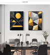 Nordic Abstract Geometry Canvas Painting Wall Art - Minimalist Nordic