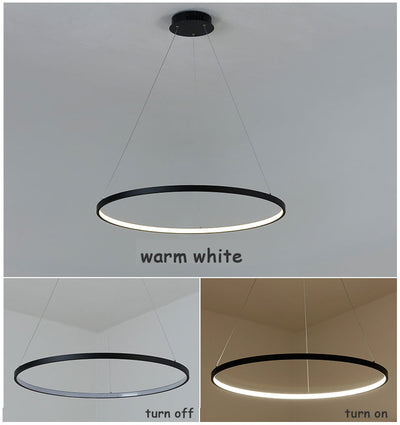 Circle Led Rings Pendant Lamp - Minimalist Nordic