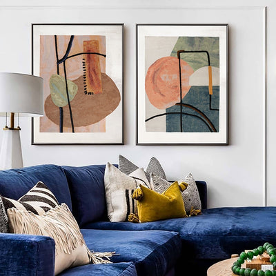 Simple Modern Abstract Luxury Oil Painting - Minimalist Nordic