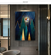 Abstract Geometric Nordic Canvas Painting Wall Art Print