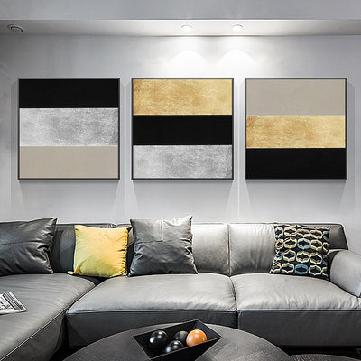 Hand-painted Triple Combination Light Picture - Minimalist Nordic