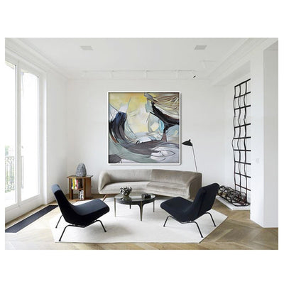 Nordic Original Abstract Color Painting Decorative Painting The Living Room Entrance Bedroom Sofa Background Painted A Huge Canv - Minimalist Nordic