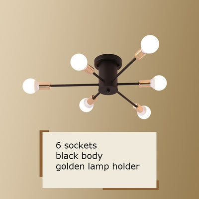 Vintage Metal Spider Ceiling Lighting - Minimalist Nordic