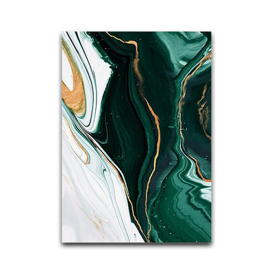 Minimalist Abstract Green Texture Painting Canvas Print