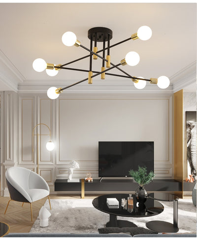 Modern Nordic E27 LED Chandelier Light - Minimalist Nordic