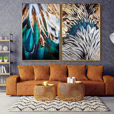 Gold-Green-Pink-Feathers-Wall-Art-Canvas-Pictures.jpg