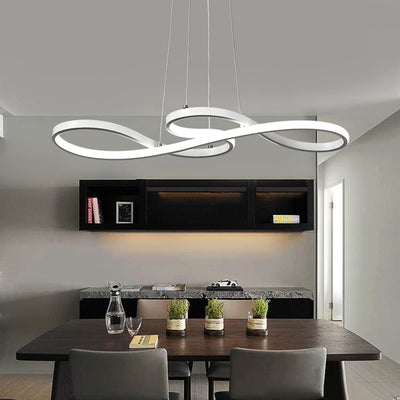 LED Pendent Hanging Lamp Curved Light For Home Decor - Minimalist Nordic