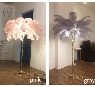 Ostrich Feather LED Floor Lamp - Minimalist Nordic