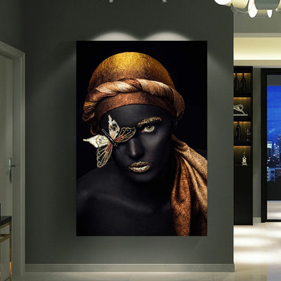 African Gold Poster Wall Art Picture