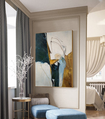 Handmade Abstract Minimalist Painting * - Minimalist Nordic