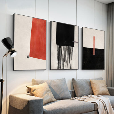 Hand-painted Oil Painting Large Wall Art - Minimalist Nordic