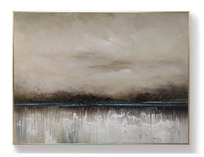 Large Abstract Painting On Canvas - Minimalist Nordic