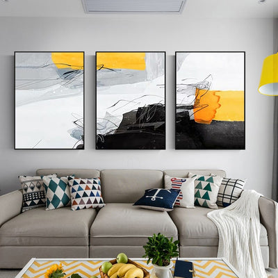 Sofa Backdrop Decorative Painting Paintings Restaurant - Minimalist Nordic