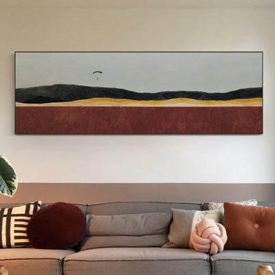 Wallwa Modern Minimalist Living Room Decorative Painting Banner Sofa Wall Painting Metal Frame Northern European-Style Significa - Minimalist Nordic