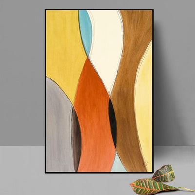 Orange Abstract Canvas Painting Wall Art - Minimalist Nordic