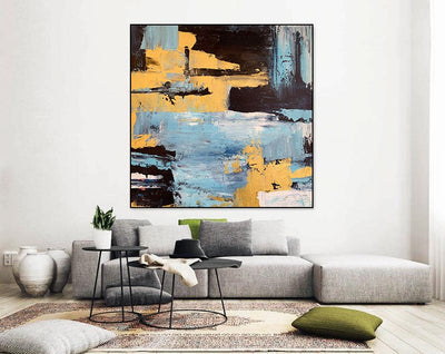 Hand Painted Large Wall Art Picture - Minimalist Nordic