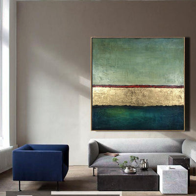 GoldLeaf Simple Abstract Wall Art - Minimalist Nordic