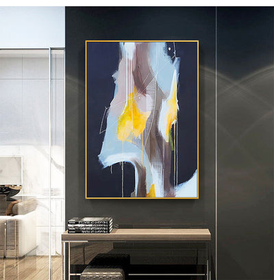 Handmade Abstract Oil Painting Wall Canvas Art - Minimalist Nordic