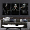 Black Gold Nude African Art Woman Nordic Style Painting on Canvas
