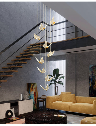 Modern Butterfly Staircase Chandelier Lighting