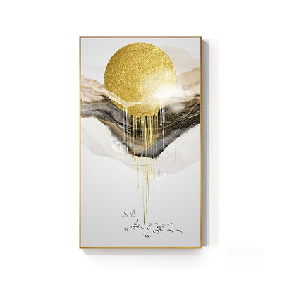 Golden Sun Canvas Painting Landscape Wall Picture