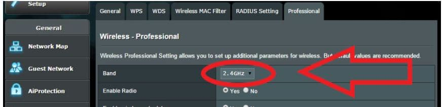 Go to both 2.4GHz and 5GHz bands
