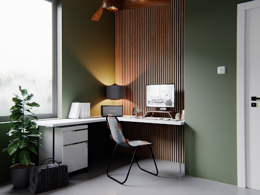 Marshall Stanmore in olive green home office