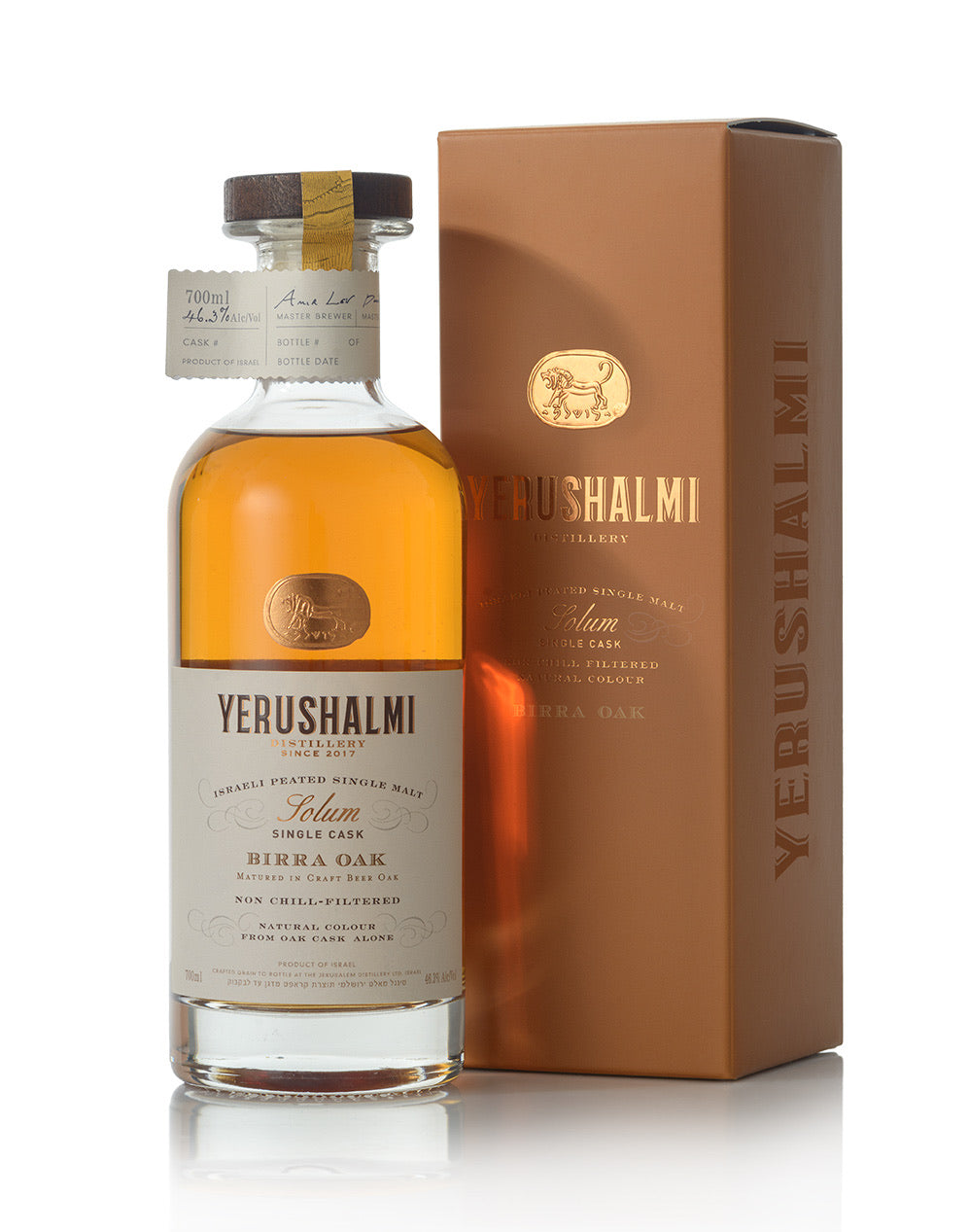 Yerushalmi Solum Birra Oak Single Cask 46.3%