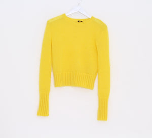 Bright yellow sweater by Joseph