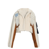 Women's Patchwork Lamb's Wool & Denim Jacket