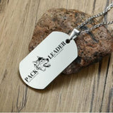 Men's Dog Tag Pendant Necklace With Free Engraving!