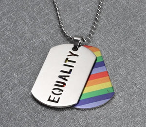 Stainless Steel Equality Dog Chain Necklace - Portion Of Sales Goes To The Trevor Project! - Drestiny